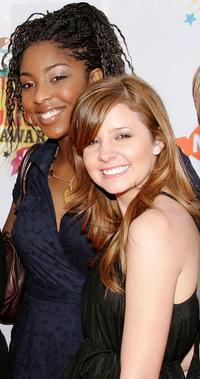 Jessica Williams and Katija Pevec at the 19th Annual Kid's Choice Awards.