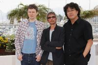 Michel Gondry, Leos Carax and Bong Joon-ho at the photocall of