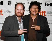Colin Geddies and Bong Joon-ho at the screening of