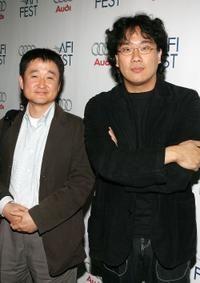 Hyung Koo Kim and Bong Joon-ho at the Audi party for