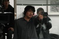 Director Bong Joon-Ho on the set of