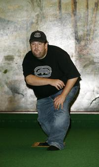 Johnny Vegas at the studio session of