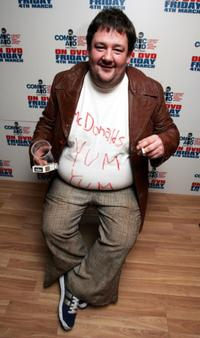 Johnny Vegas at the Comic Aid comedy night.