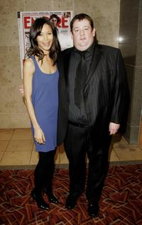 Thandie Newton and Johnny Vegas at the Sony Ericsson Empire Film Awards 2006.