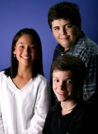 Zoe Wiezenbaum, Conor Donovan and Jesse Camacho at the portrait session of