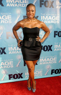 Aisha Hinds at the 42nd NAACP Image Awards in California.