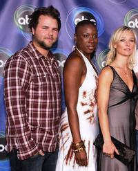 Tyler Labine, Aisha Hinds and Kari Matchett at the ABC TCA party.