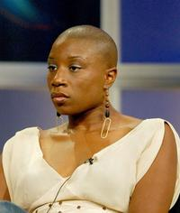 Aisha Hinds at the panel discussion of