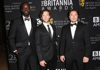 Ato Essandoh, Kyle Schmid and Kevin Ryan at the 2012 BAFTA Los Angeles Britannia Awards in California.