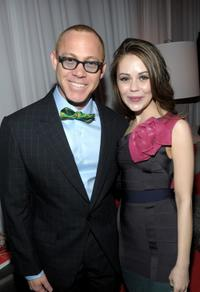 Red Carter and Alexis Dziena at the Mercedes-Benz Fashion Week Fall 2010.