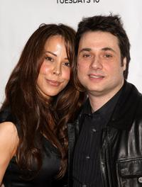 Alex Tyler and Adam Ferrara at the premiere of