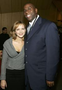 Jordana Spiro and Magic Johnson at the 2006/2007 TNT And TBS UpFront Reception.