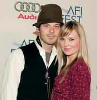 Scoot McNairy and Sara Simmonds at the AFI FEST 2007.