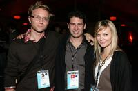 Alex Holdridge, Seth Caplan and Sara Simmonds at the AFI FEST 2007.
