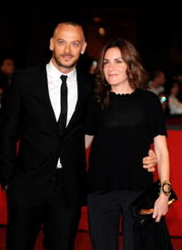 Filippo Nigro and Guest at the premiere of