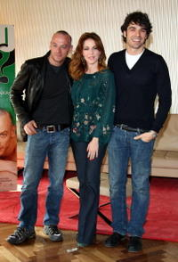 Filippo Nigro, Claudia Gerini and Luca Argentero at the photocall of