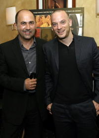 Ferzan Ozetek and Filippo Nigro at the premiere of