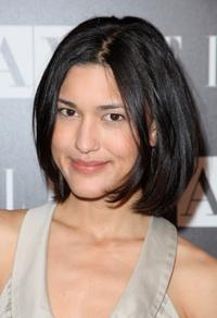 Julia Jones at the A|X Armani Exchange and ELLE's Joe Zee Disco Glam soiree evening.