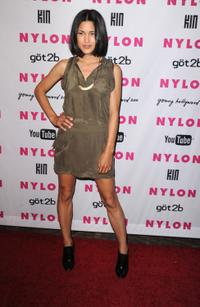 Julia Jones at the NYLON & YouTube Young Hollywood party.