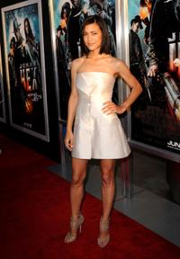 Julia Jones at the premiere of