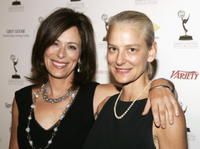Jane Kaczmarek and sister Mary at the 58th Annual Primetime Emmy Awards.