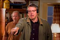 Director Adam McKay on the set of