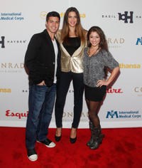 David Castro, Jenna Morasca and Raquel Castro at the Esquire Apartment Benefit Event.