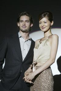 Will Kemp and Japanese actress Tomoka Kurotani at the opening ceremony of United Cinemas Toshimaen.