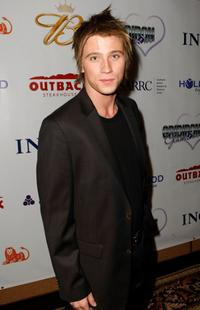 Garrett Hedlund at the 10th Annual Gridiron Glamour show benefiting the HollyRod Foundation and SARRC.