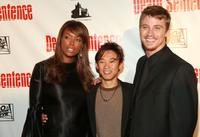 Aisha Tyler, director James Wan and Garrett Hedlund at the premiere of