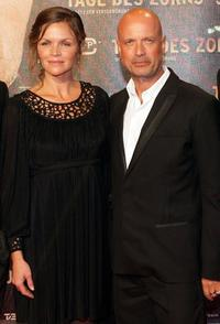 Stine Stengade and Christian Berkel at the German premiere of