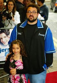 Raquel Castro and director Kevin Smith at the UK premiere of
