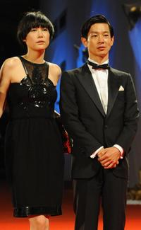 Rinko Kikuchi and Ryo Kase at the screening of