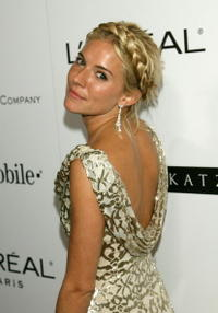 Sienna Miller at the Weinstein Company's 2007 Golden Globes after party.