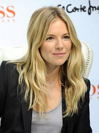Sienna Miller at the El Corte Ingles store in Madrid, Spain.