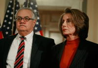 Barney Frank and Nancy Pelosi at the House Dems Hold Issues Forum With Nat'l Security And Economic Experts.