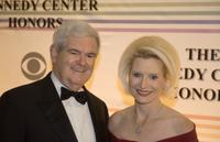 Newt Gingrich and Callista Gingrich at the 32nd Kennedy Center Honors.