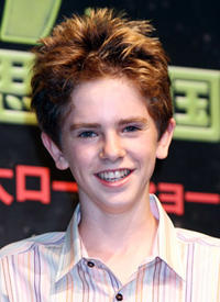 Freddie Highmore at a press conference in Japan for