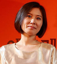 Moon So-ri at the Korean Cinema restrospective party during the 15th Pusan International Film Festival in South Korea.