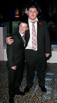 Devon Murray and Jamie Waylett at the party of the world premiere of