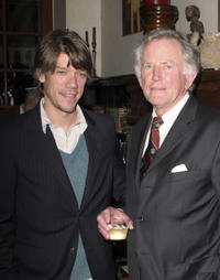 Stephen Gaghan and Gary Hart at the Hart's lecture and Book Signing for new hardcover