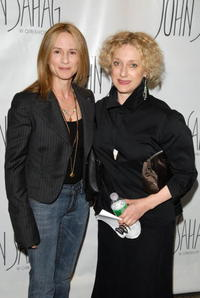 Carol Kane and Holly Hunter at the re-launch of the John Sahag Workshop.