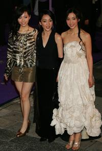 Zhang Liangying, Zhou Xun and Li Bingbing at the 25th Hong Kong Film Awards.