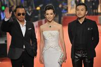 Zhang Hanyu, Li Bingbing and Alec Su at the Golden Horse Awards.