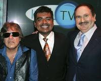 Jose Feliciano, George Lopez and Gabe Kaplan at the AOL and Warner Bros. Launch of In2TV at the Museum of TV & Radio.