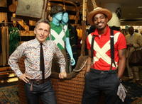 Simon Doonan and Andre Benjamin at the Mercedes-Benz Fashion Week Spring 2009.