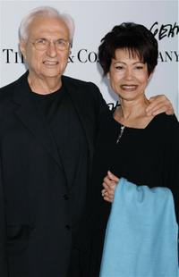 Frank Gehry and Berta at the launch of Mr. Gehry's premiere jewelry collection for Tiffany and Co.