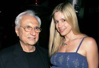 Frank Gehry and Mira Sorvino at the launch of his premiere jewelry collection for Tiffany and Co.