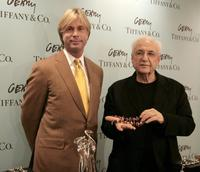 Jon King and Frank Gehry at the Tiffany and Co's launch of