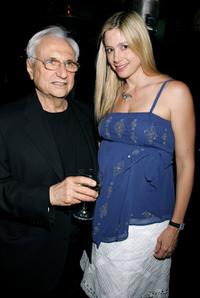 Frank Gehry and Mira Sorvino at the launch of Mr. Gehry's premiere jewelry collection for Tiffany and Co.